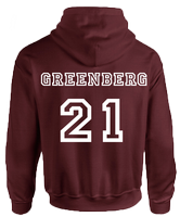 BEACON HILLS LACROSSE ON FRONT GREENBERG ON BACK HOODIE - INSPIRED BY TEEN WOLF